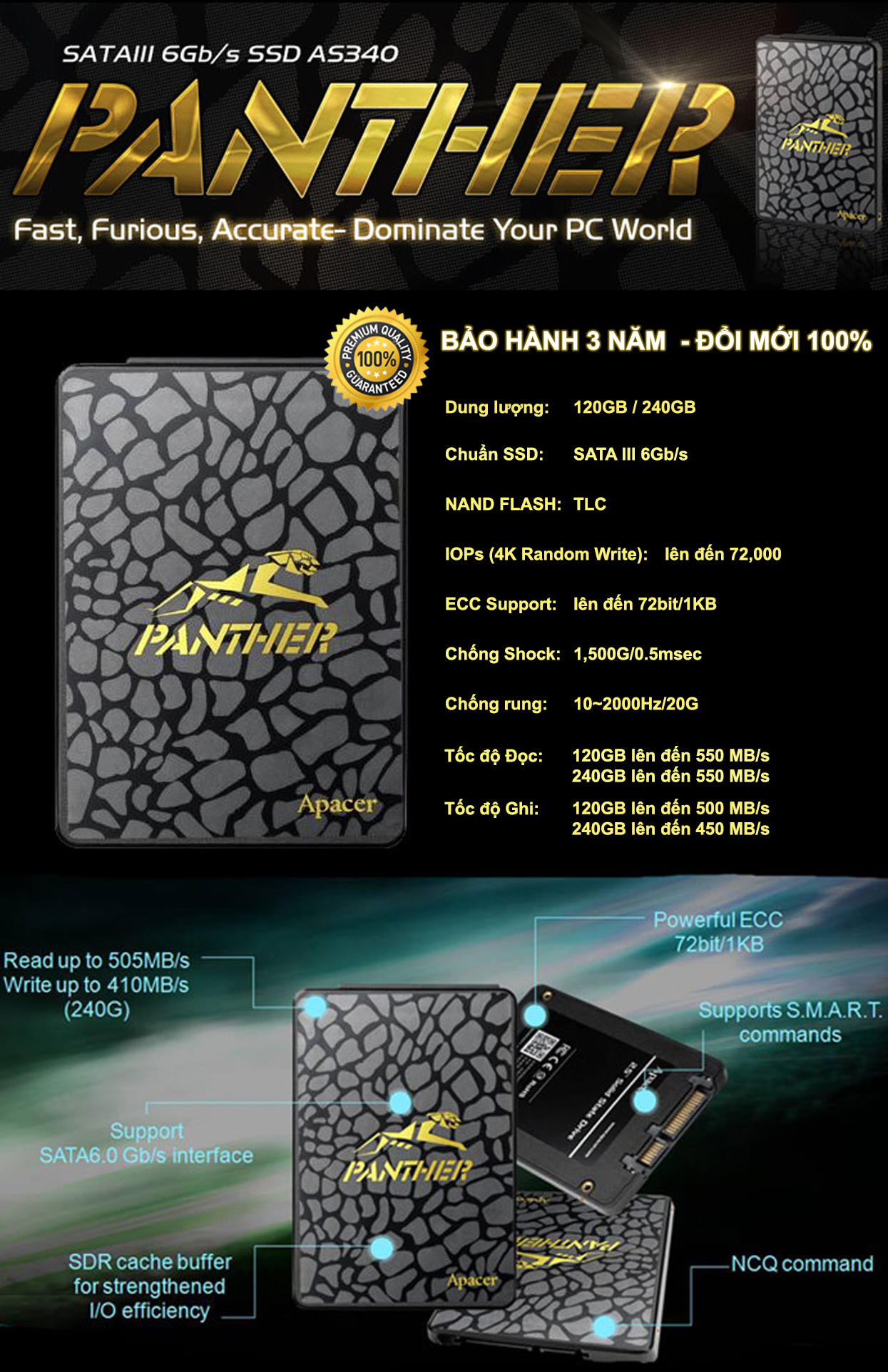 Ổ cứng SSD Panther 120G