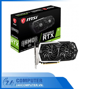 Card màn hình MSI RTX 2060 Super ARMOR OC (8GB GDDR6, 256-bit, HDMI+DP, 1x8-pin)