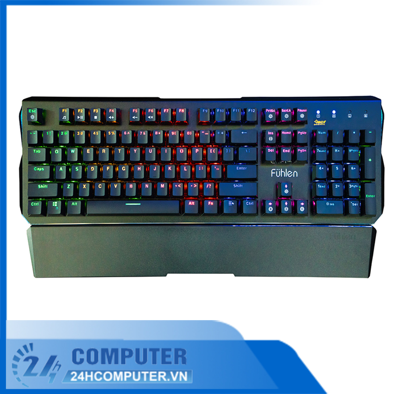 Bàn phím cơ Fuhlen Destroyer RGB Blue Switch