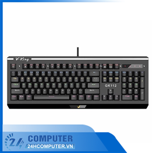 Bàn phím quang cơ Gaming V-King GK112 (RGB, Blue/ Brown/ Red D switch)