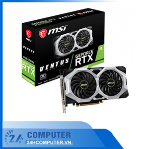 Card màn hình MSI RTX 2060 Super VENTUS OC (8GB GDDR6, 256-bit, HDMI+DP, 1x8-pin)