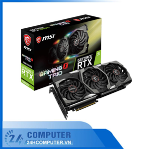 Card màn hình MSI RTX 2080 Ti GAMING X TRIO (11GB GDDR6, 352-bit, HDMI+DP+Type-C, 1x8-pin+ 1x6-pin)