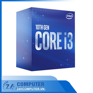 CPU Intel Core i3-10100F (3.6GHz turbo up to 4.3Ghz, 4 nhân 8 luồng, 6MB Cache, 65W) - LGA 1200