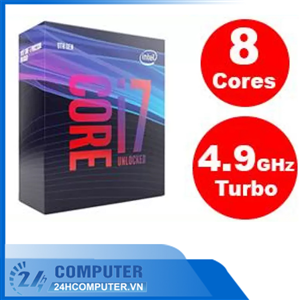CPU Intel Core i7-9700KF 3.60Ghz Turbo up to 4.90GHz / 12MB / 8 Cores, 8 Threads / Socket 1151 / Cof