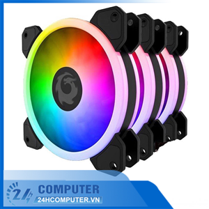Fan Case FORGAME RGB CAT EYE (pack 3 fan kèm điều khiển)