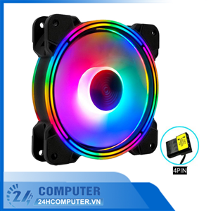 Fan led rgb Coolmon K3, kèm hub remote