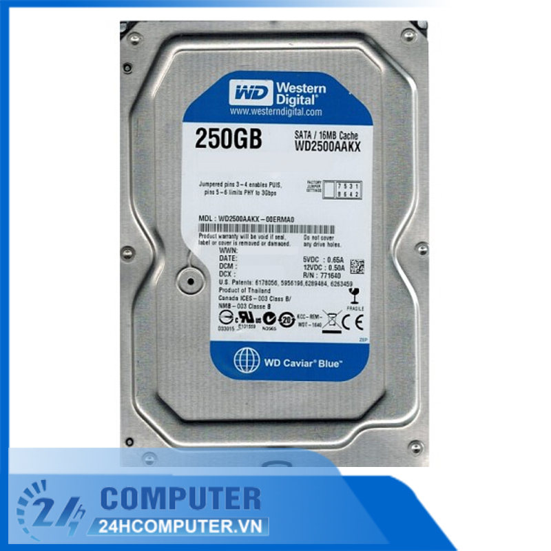 Ổ cứng HDD WD 250GB Blue SATA 16MB Cache