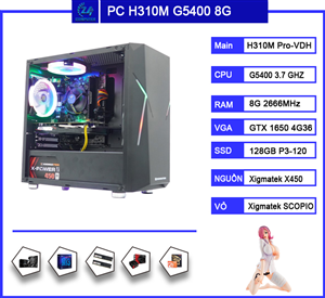 PC chơi Game Core I3 9100F / GTX 1650 / 8GB