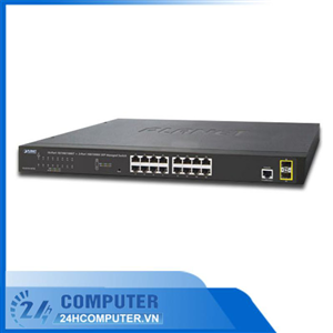 SWITCH Planet 16-Port 10/100/1000+2-port 100/1000X SFP (GS-4210-16T2S)