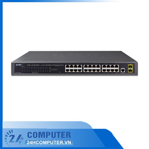 SWITCH Planet 24-Port 10/100/1000T+2-Port 100/1000X SFP(GS-4210-24T2S)