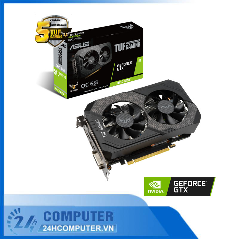 VGA ASUS TUF Gaming GeForce GTX 1660 SUPER 6GB GDDR6 (TUF-GTX1660S-6G-GAMING)